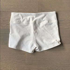 American Apparel White Spandex Shorts